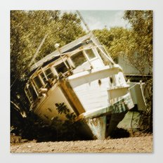 Boat in need of repair Canvas Print