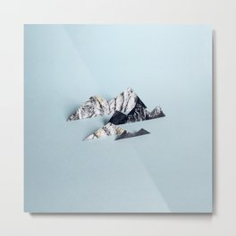 Paper mountains Metal Print