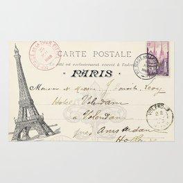 I Love Paris Postcard Rug
