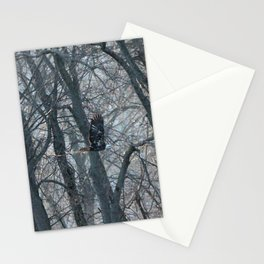Bald Eagle bring supplies to nest Stationery Cards