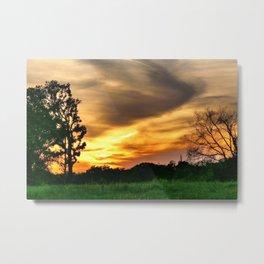 April East Texas Sunset Metal Print