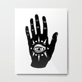 eye in palm (neo hamsa) Metal Print