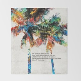 Colorful Palm Trees - Returning Home - By Sharon Cummings Throw Blanket