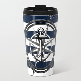 Navy Striped Nautica Travel Mug