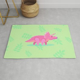 Triceratops, She Always Had an Attitude Rug