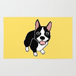 Happy Boston Terrier Rug