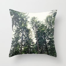 Up In The Woods Throw Pillow
