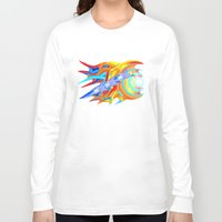 ducks Long Sleeve T-shirts featuring liquid ducks by JT Digital Art