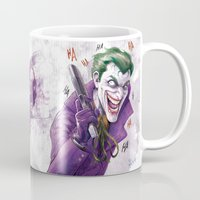 harley Mugs featuring Harley Quinn NYCC 2014 by fabvalle