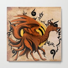 Kyuubi Dragon Metal Print