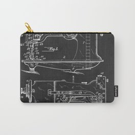 Sewing Machine 1916 Patent Print Carry-All Pouch