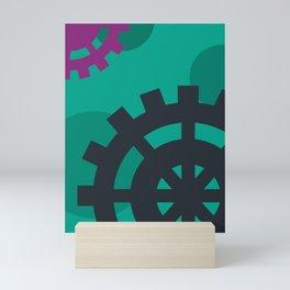 The Magical World of Gears Mini Art Print