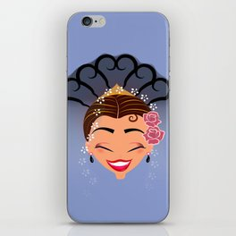 Tuti-Lady Flamenquerías/Character & Art Toy design for fun iPhone Skin