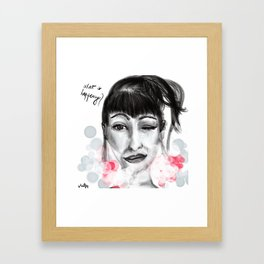 What is happening? Framed Art Print