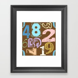 Numberology Framed Art Print