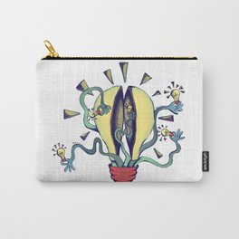 Handsy Lightbulb by Maisie Cross Carry-All Pouch