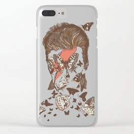 FACES OF GLAM ROCK Clear iPhone Case