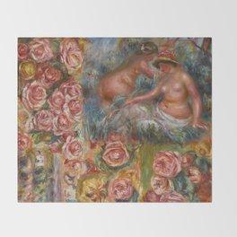 """Auguste Renoir """"Étude De Nus Et De Fleurs"""" Throw Blanket"""