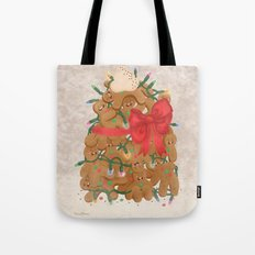 Merry Christmas from Gingerbread Men Tote Bag