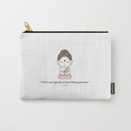 Cute little Buddha with inspiring quote Carry-All Pouch