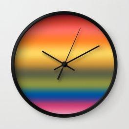 Rainbow 2019 Gradient Wall Clock