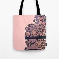 anonymous Tote Bags featuring Anonymous by Ludovic Jacqz