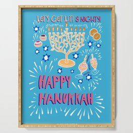 Happy Hanukkah-Festival of Lights Serving Tray