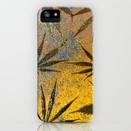 Cannabis leaves iPhone Case