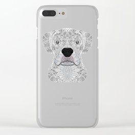 White Boxer Clear iPhone Case