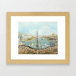 Detailed Vista of Chicago's Court of Honor and Peristyle 1893 Framed Art Print