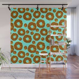 Donut and holes pattern // Doughnut and holes pattern // Donut lover Wall Mural