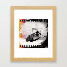 Photography - Boat - Paracas - Peru Framed Art Print