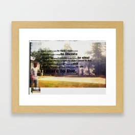 I create: Framed Art Print