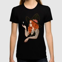 Red tattooed witch T-shirt