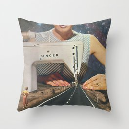 This is how a road gets made Throw Pillow