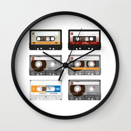 Old School Mixed Tapes Wall Clock