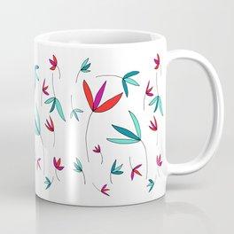 Happy Flowers Drawing by Emma Freeman Designs Coffee Mug