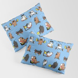 Leg Day with French Bulldog Pillow Sham