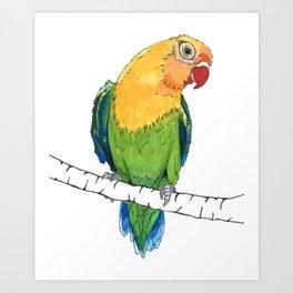 Lovebird Listener Art Print