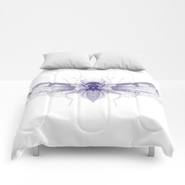 Insect Metamorphosis Art Print Comforters