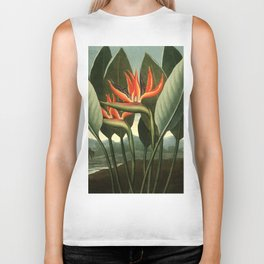 Birds of Paradise : Temple of Flora Biker Tank