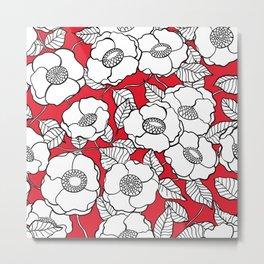 White roses pattern Metal Print