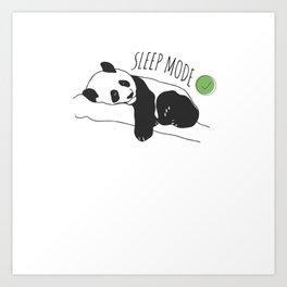 Funny Panda Sleep Mode Panda Lover Art Print