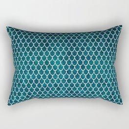 Mermaid Art, Deep Teal Green, Design Prints Rectangular Pillow