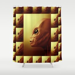 Alien Files Shower Curtain