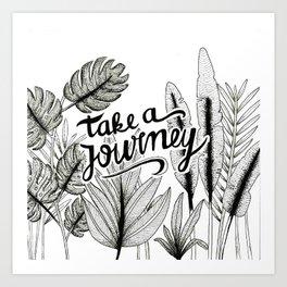 Take a journey Art Print