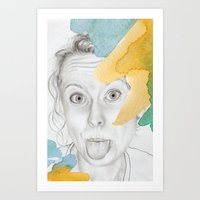 Amy's Silly Face Art Print