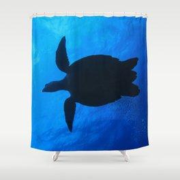 Hawks Bill Sea Turtle Shower Curtain