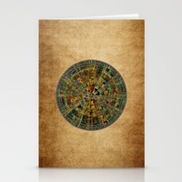 calendar Stationery Cards featuring Ancient Calendar by Klara Acel