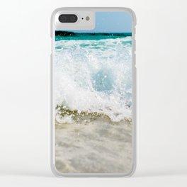 Tropical Summer Beach Clear iPhone Case